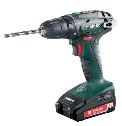 Akutrell BS 18, 10 mm padruniga / 2x2,0 Ah, Metabo